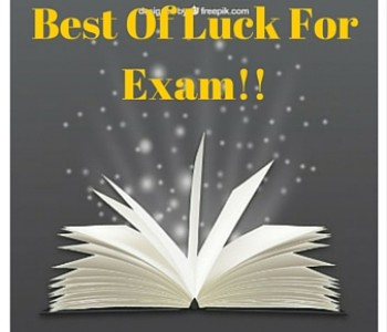 Wishing All Student The Very Best For The Exams Credent